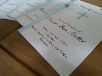 Christening Order of Service